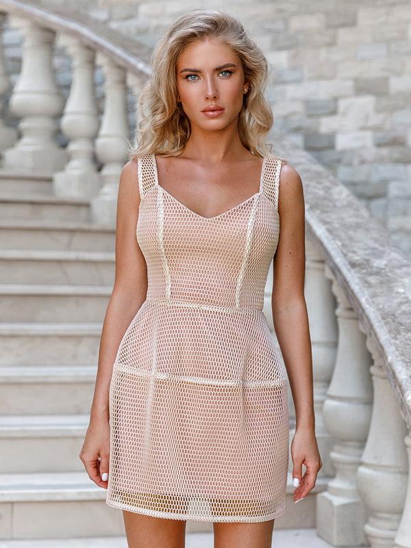 Платье бежевое | 5100587