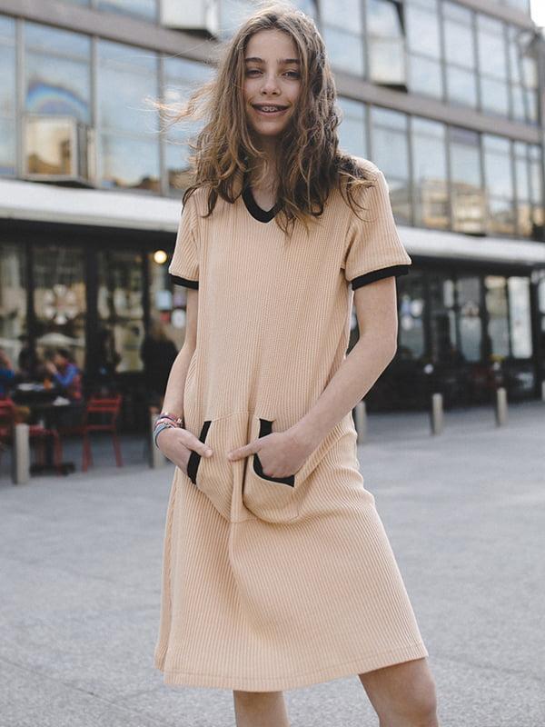 Платье бежевое | 5124708