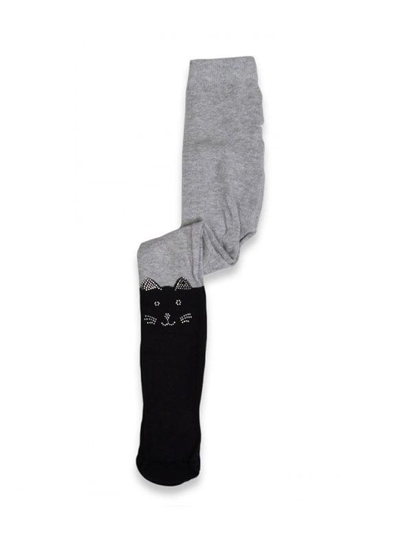 Колготки сіро-чорні | 5125926