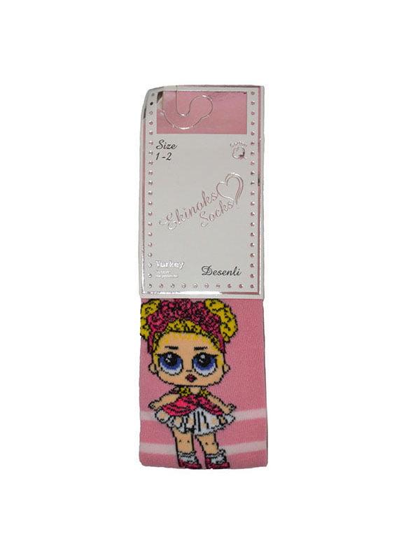 Колготки рожеві з малюнком   5125937