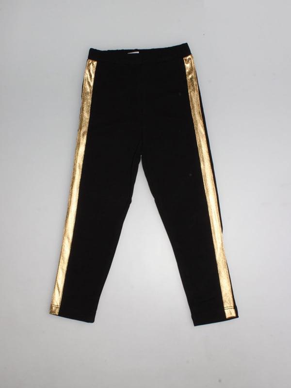 Легінси чорно-золотисті | 4935171