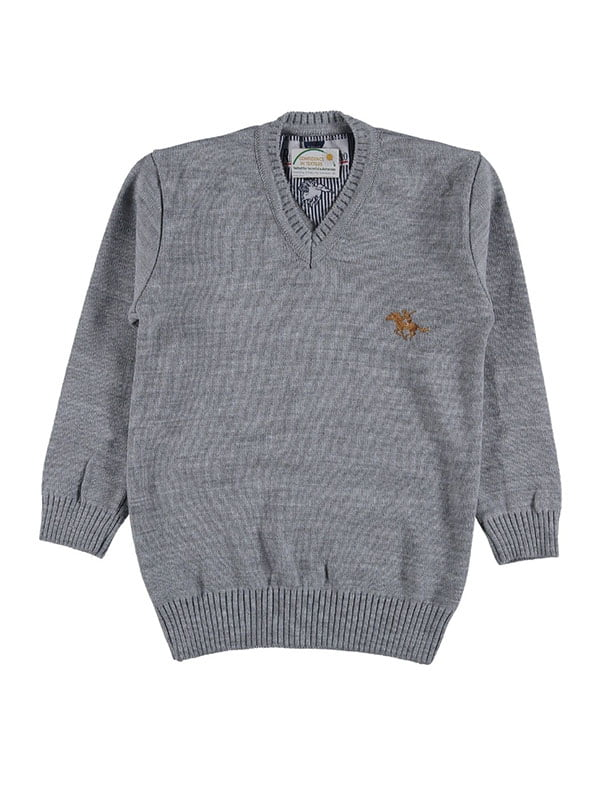 Пуловер серый | 5125963