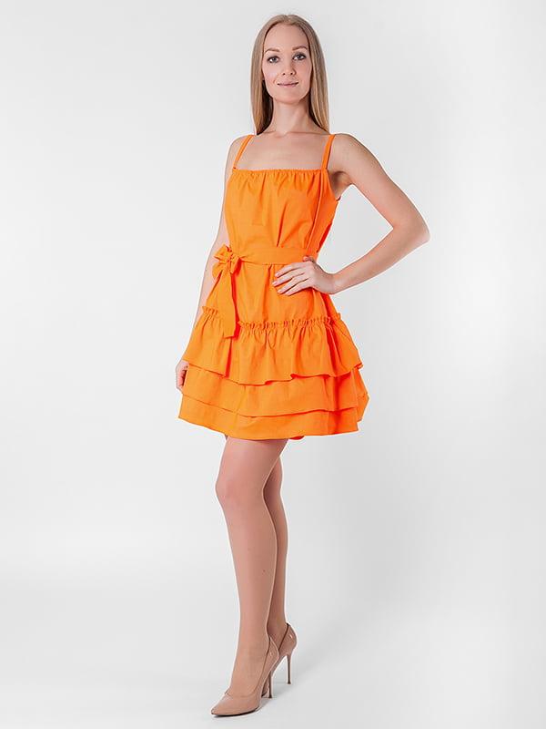 Платье оранжевое | 5126126