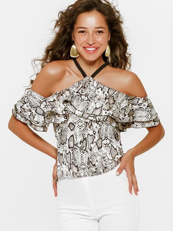 Блуза серо-белая | 5116530