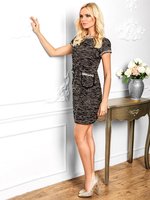 Платье черно-бежевое | 5128776