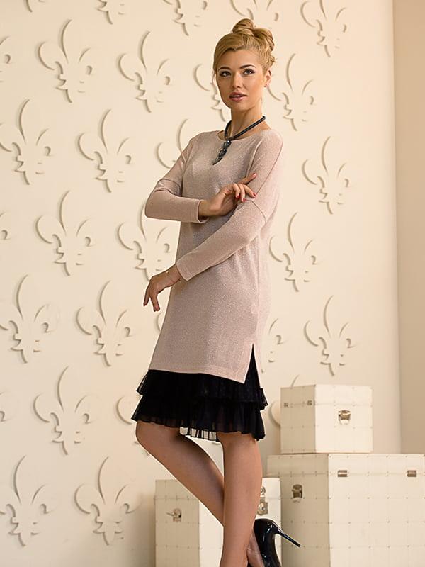 Платье двухцветное | 4437779