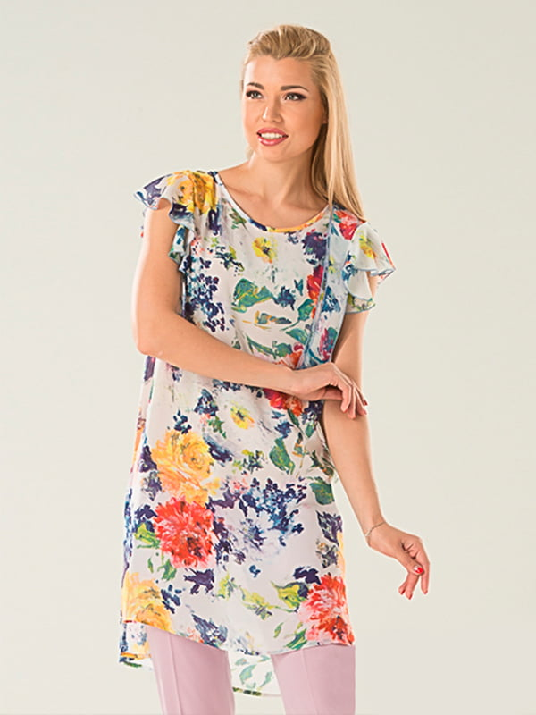 Блуза в цветочный принт | 5114062