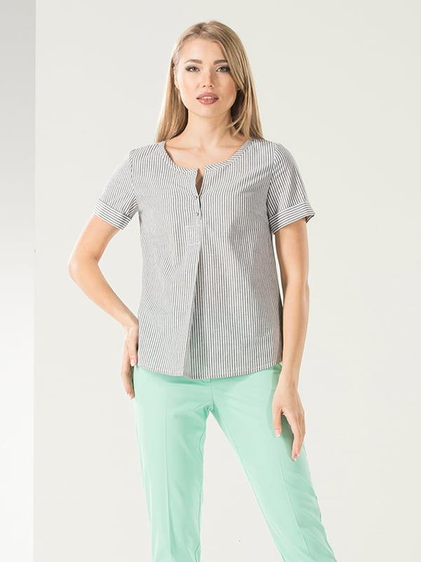 Блуза серая в полоску   5115709