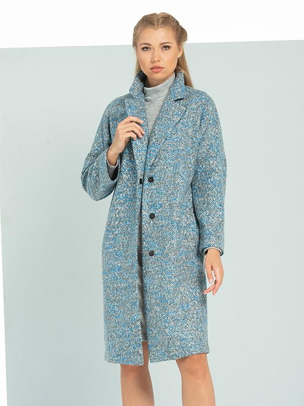 Пальто голубое   5115860
