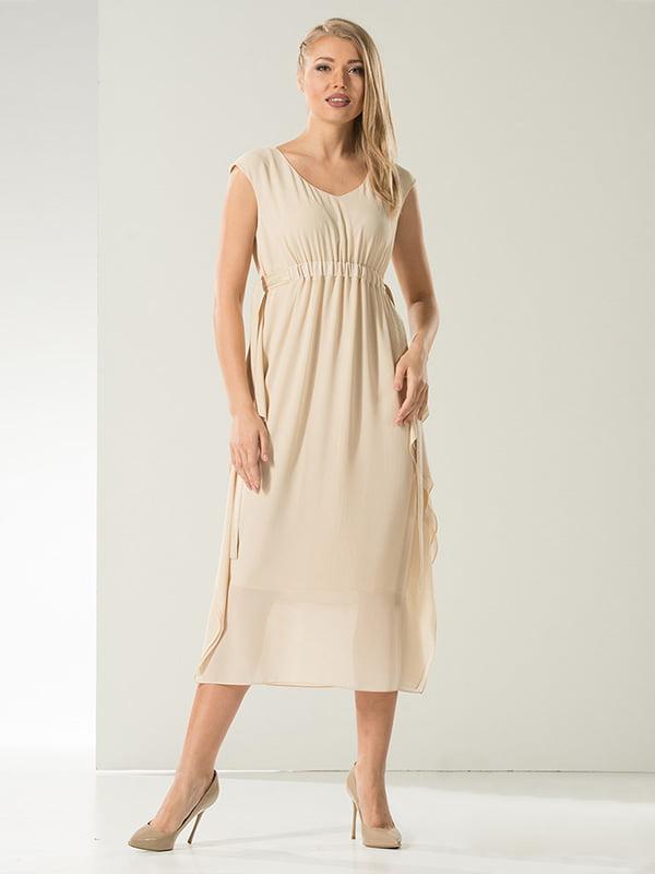 Платье бежевое | 5120740