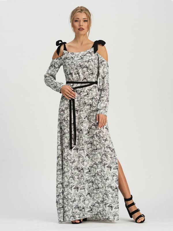 Платье белое с принтом   5125138