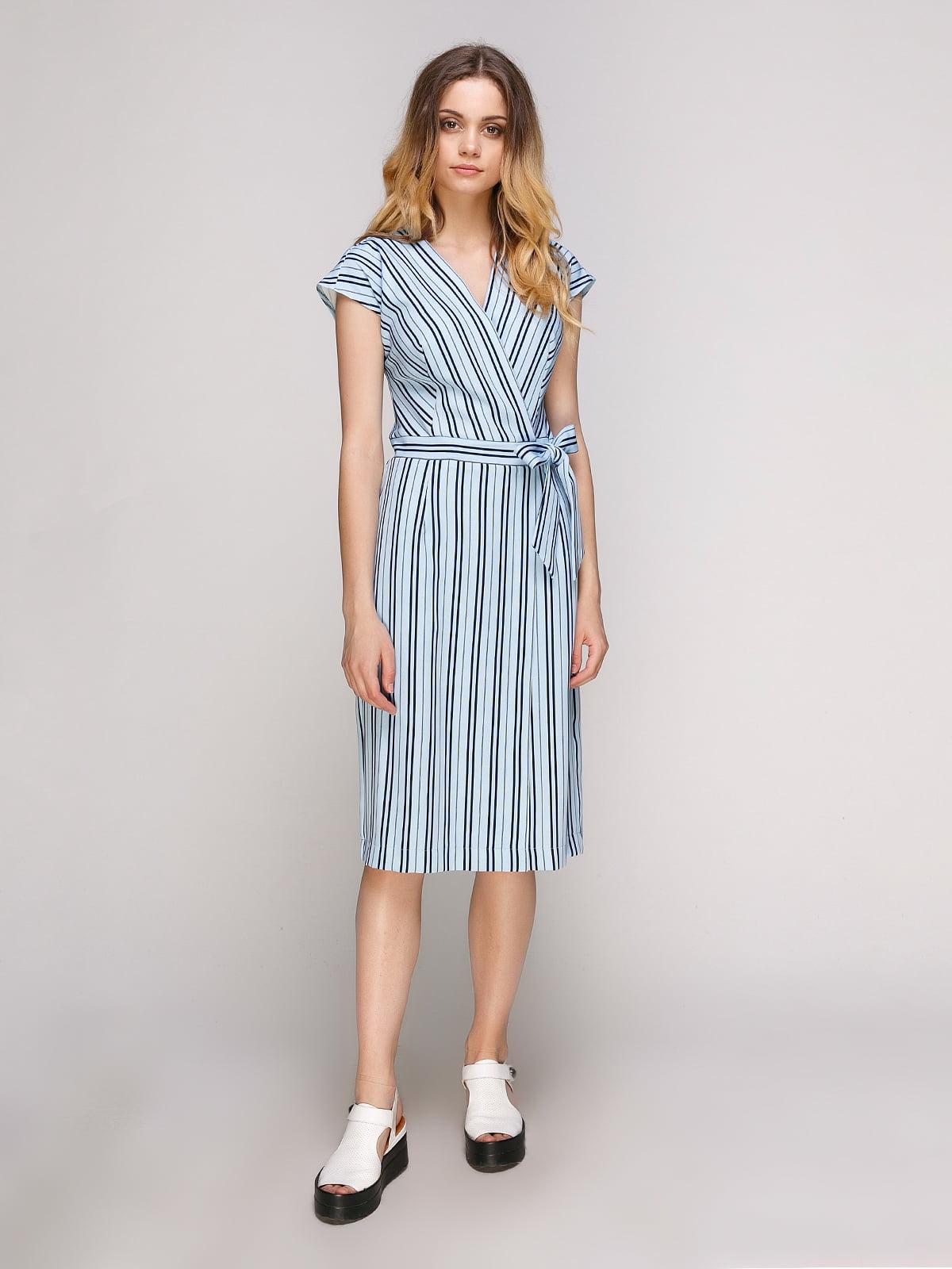 Платье голубое в полоску | 5128885