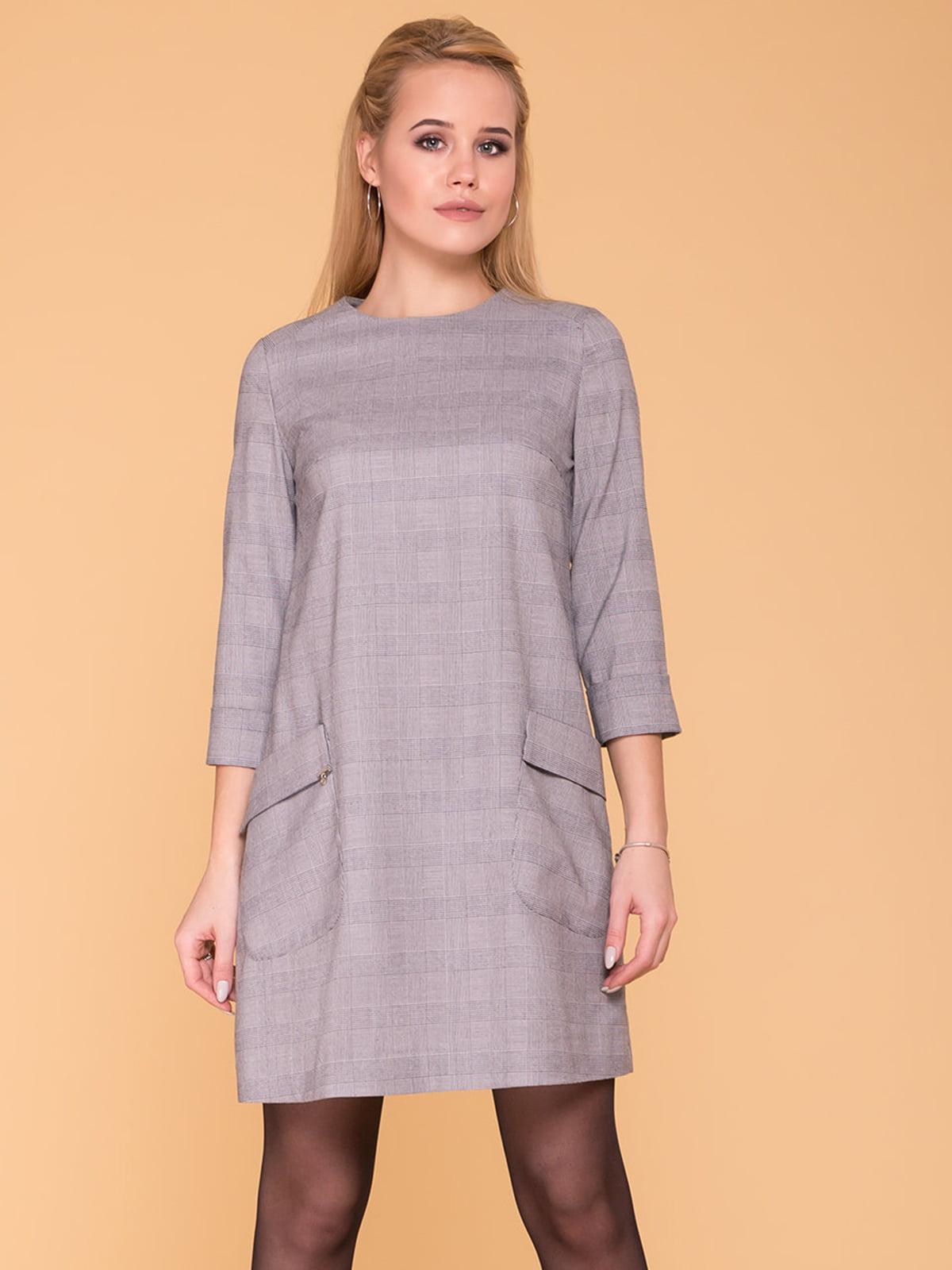 Сукня світло-сіра | 4863521