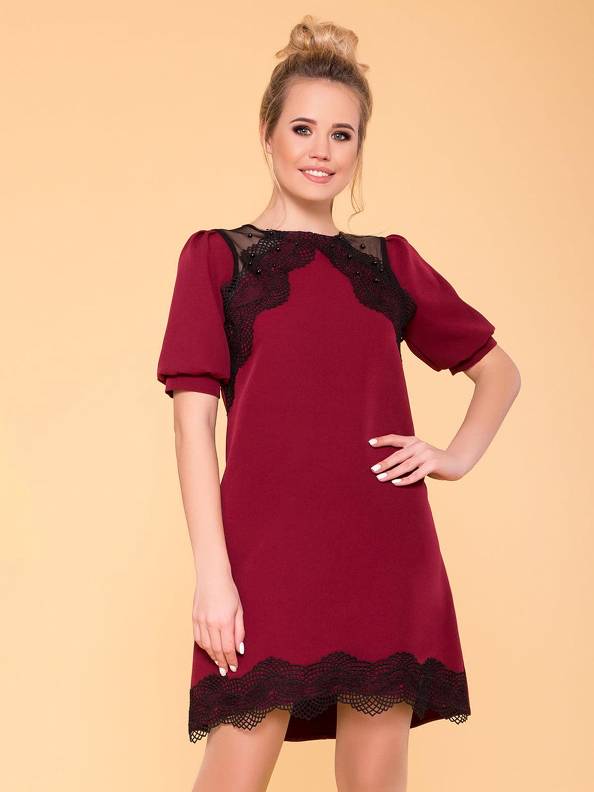 Сукня кольору марсала | 4936809