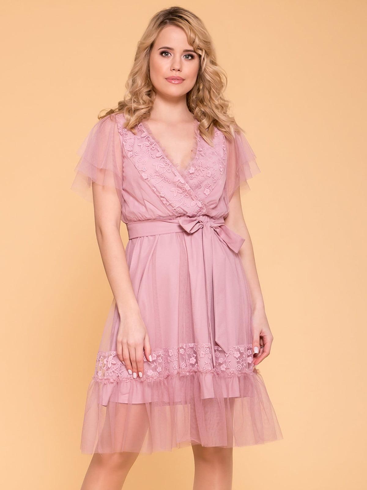 Сукня сіро-рожева | 5039147