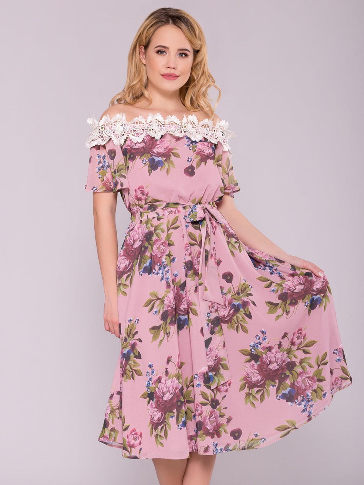 Сукня кольору пудри | 5094671