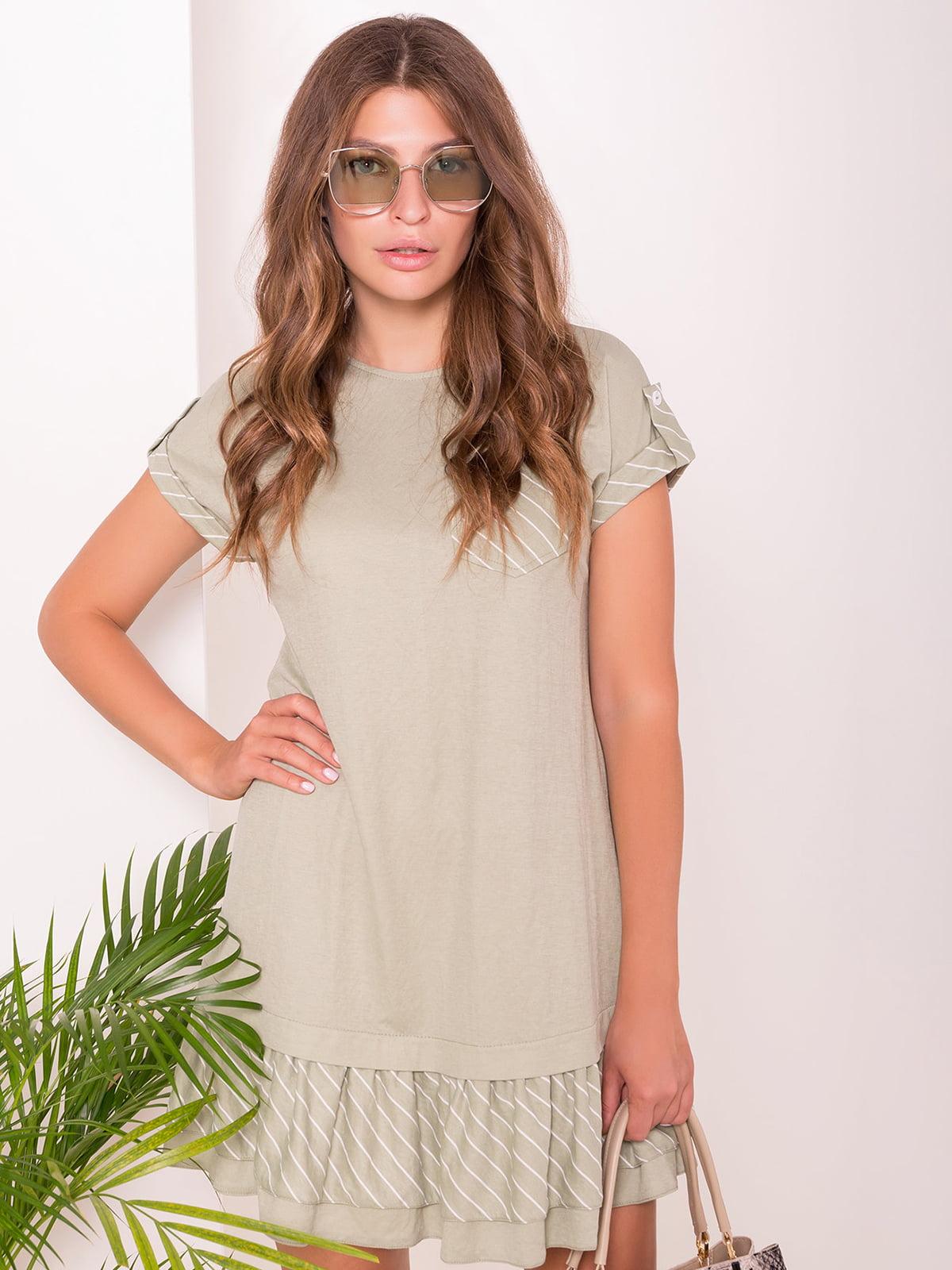 Сукня оливкового кольору | 5112298