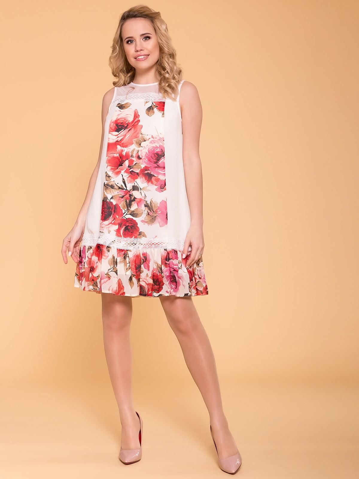 Сукня молочно-червона | 5125716