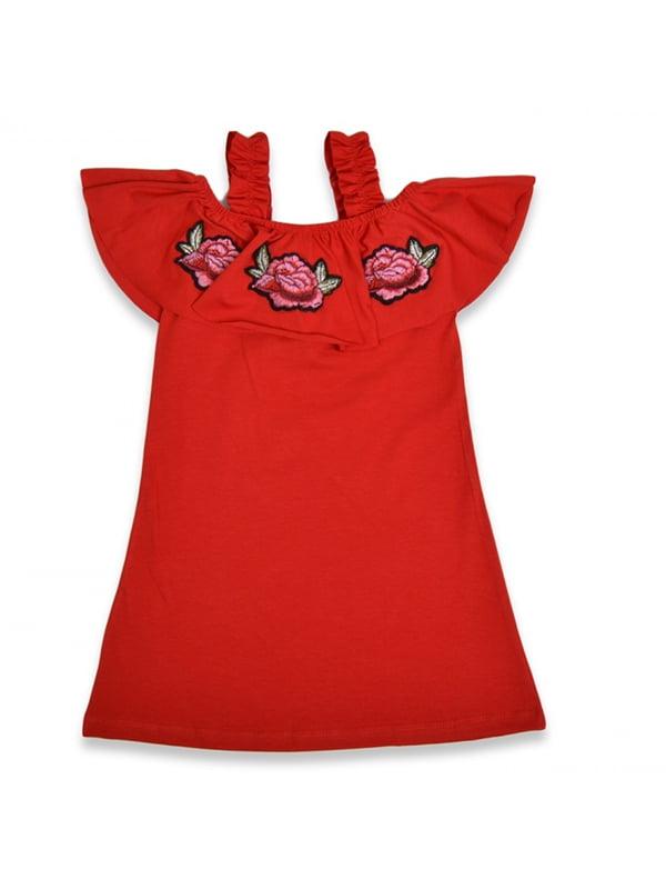 Сукня червона з вишивкою | 5136880
