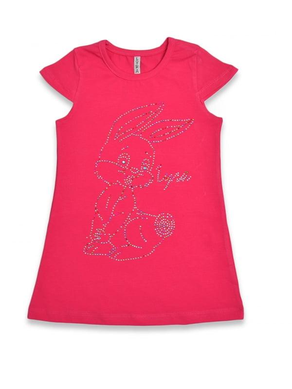 Сукня червона з принтом | 5136885