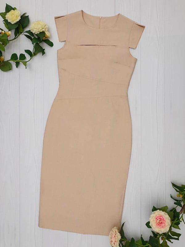 Платье бежевое   5116024