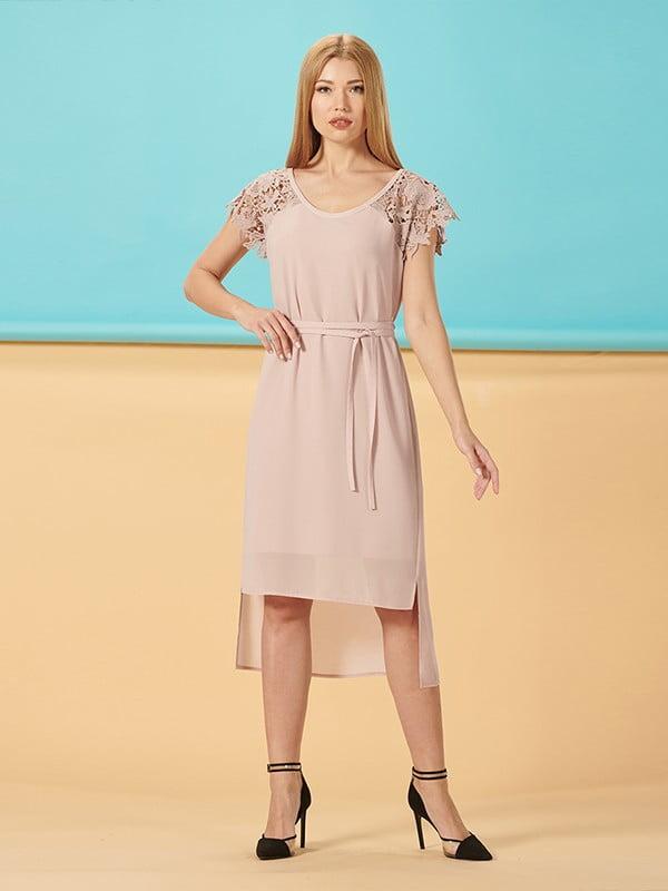 Платье цвета пудры | 5139565