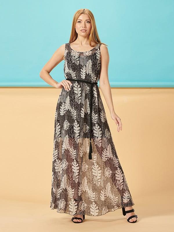 Платье черное в принт | 5139586