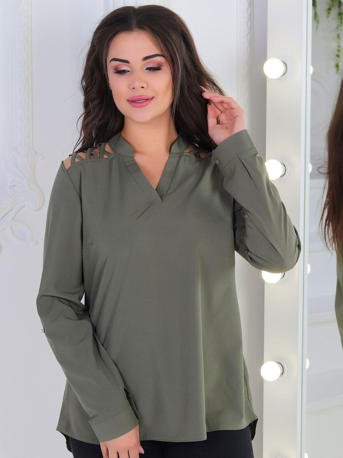 Блуза оливкового кольору | 5010607