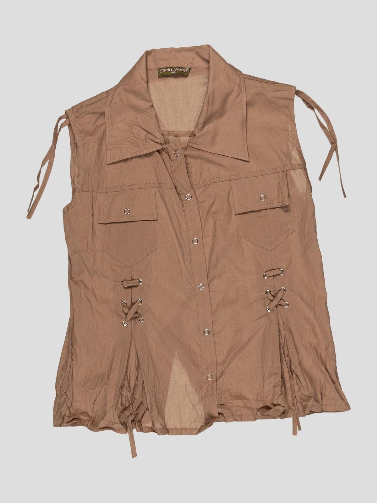 Блуза коричнева | 3168542