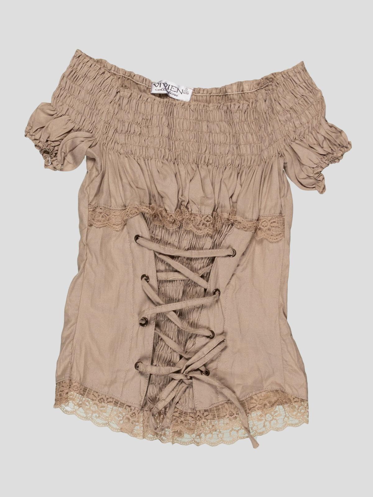 Блуза бежевая | 4418379