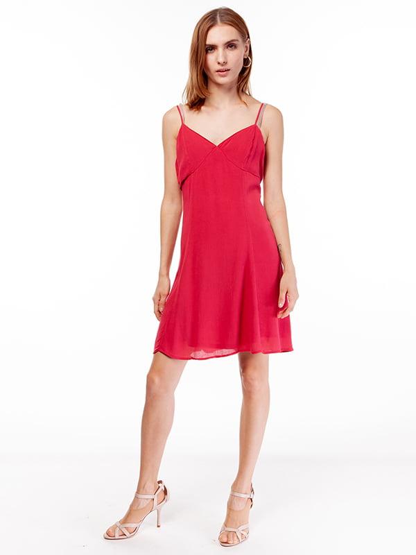 Платье-сарафан малиновое | 5104589
