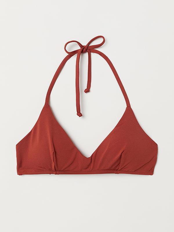 Бюстгальтер купальный рыжего цвета | 5112991