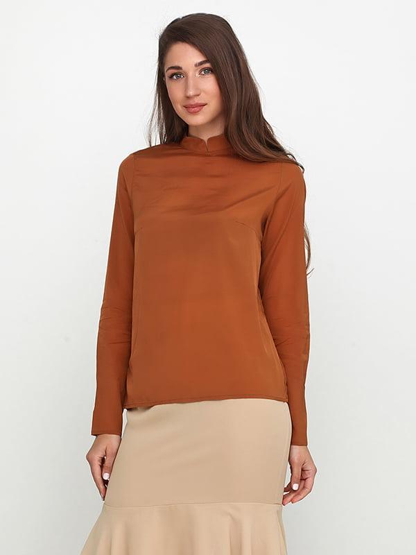 Блуза теракотового кольору | 5140694