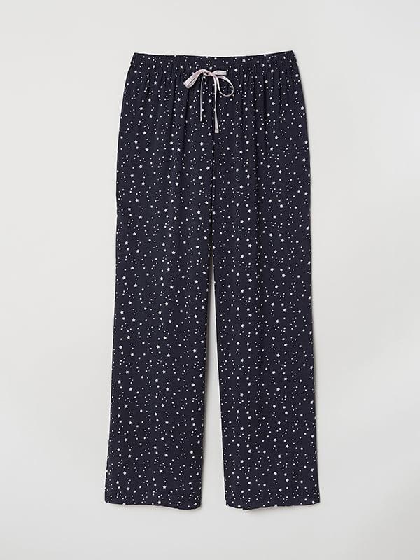 Брюки пижамные синие | 5112685