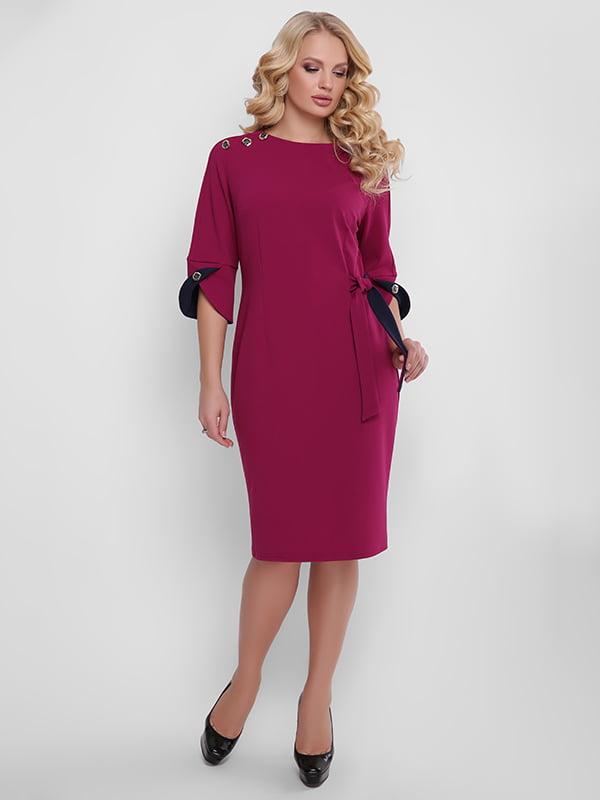 Платье винного цвета   5141625