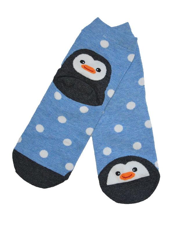 Шкарпетки блакитні з малюнком | 3876577