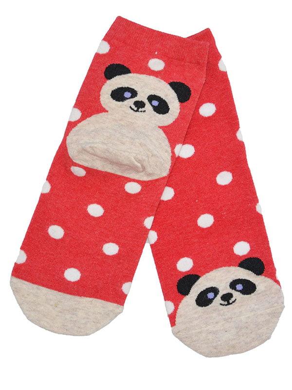 Шкарпетки червоні з малюнком | 3876578
