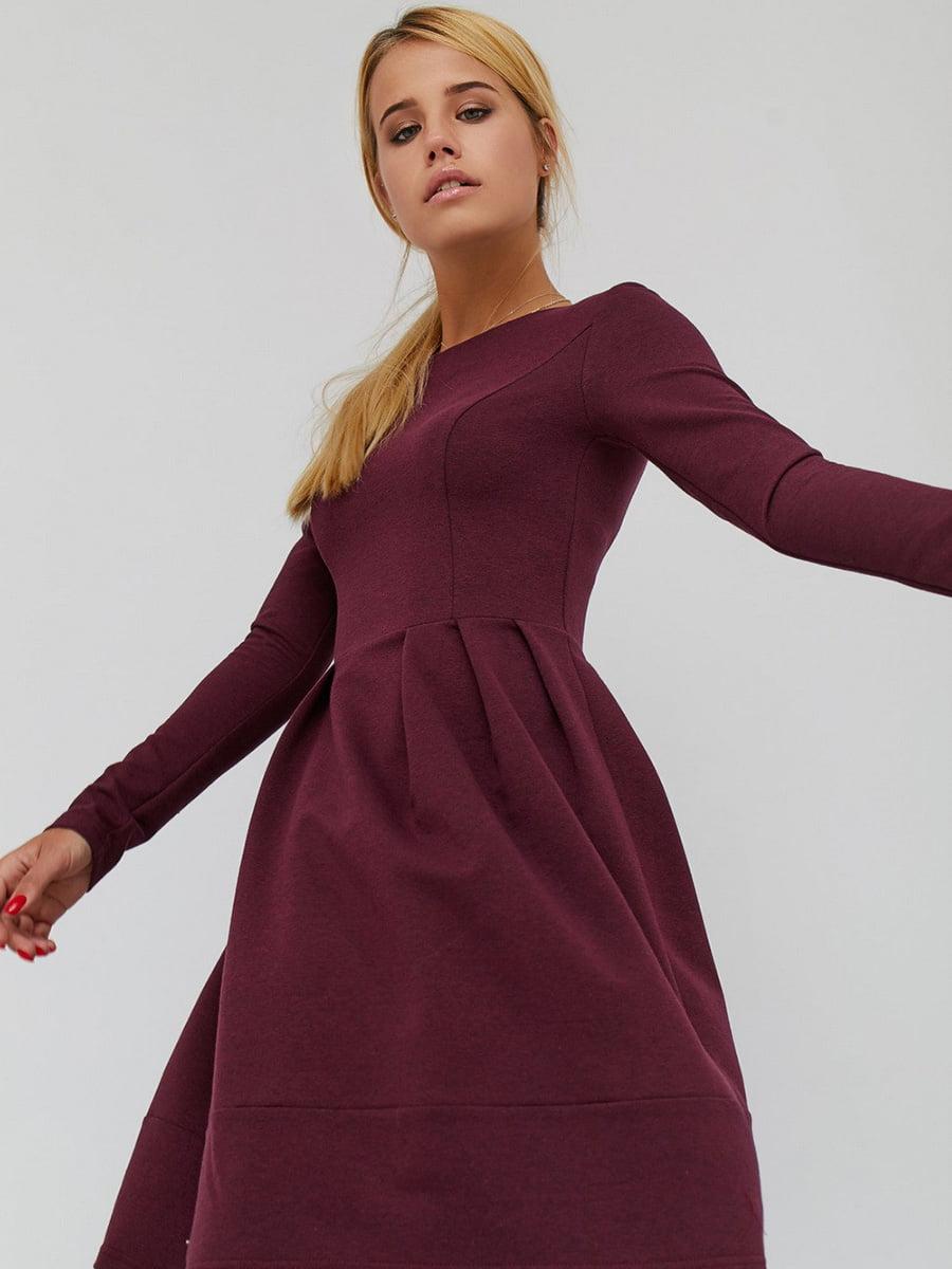 Платье бордовое | 5075003