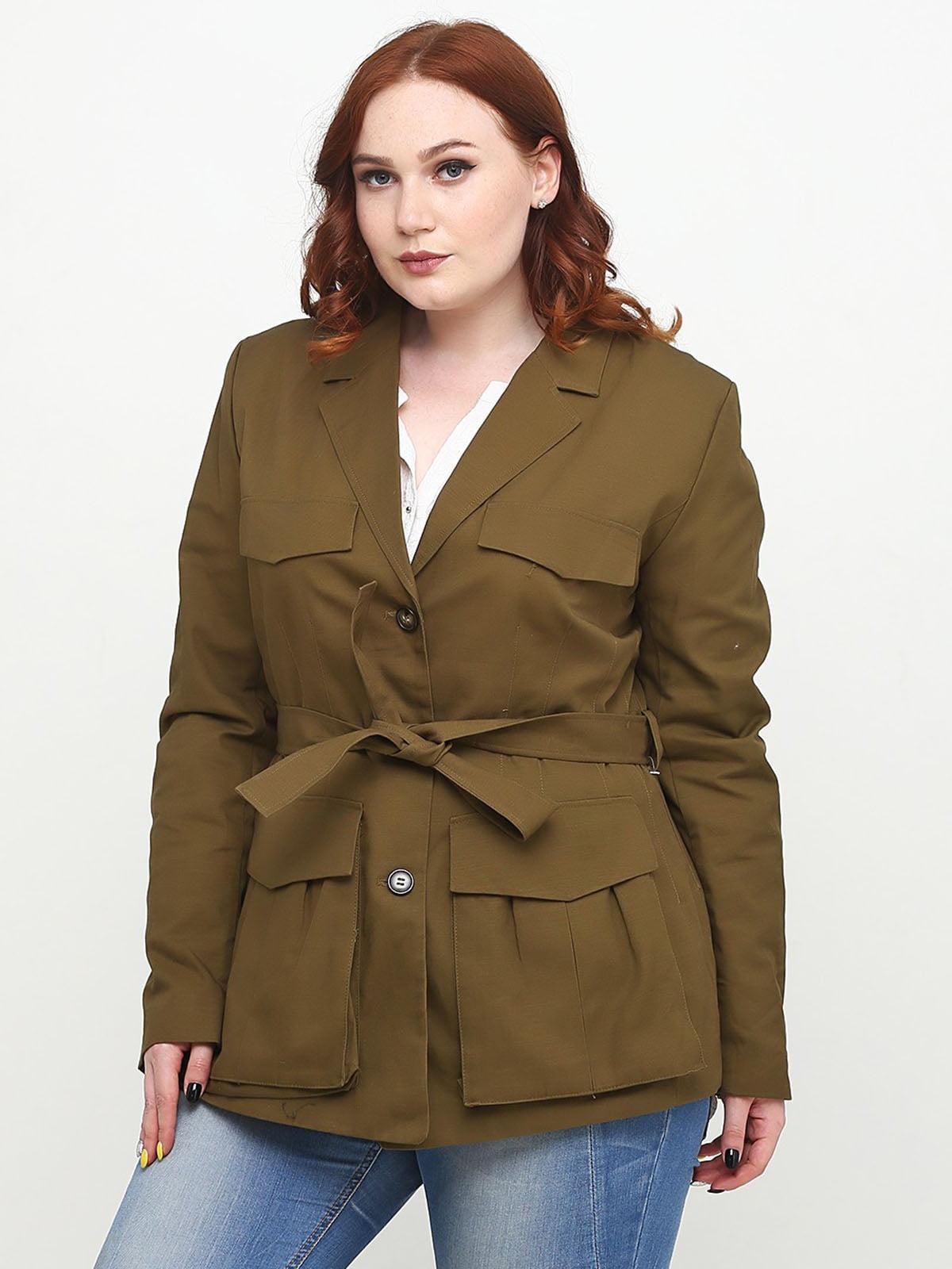 Пиджак цвета хаки фото