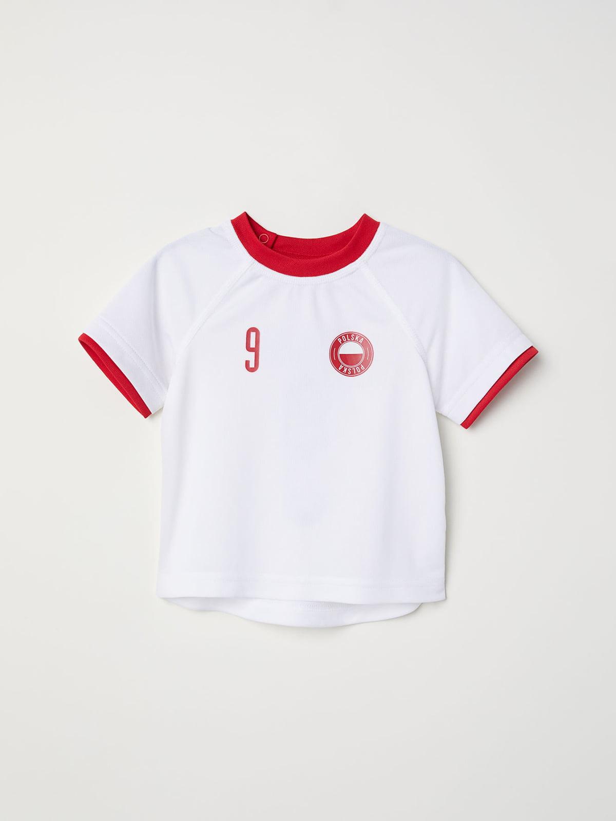 Футболка бело-красная   5148477