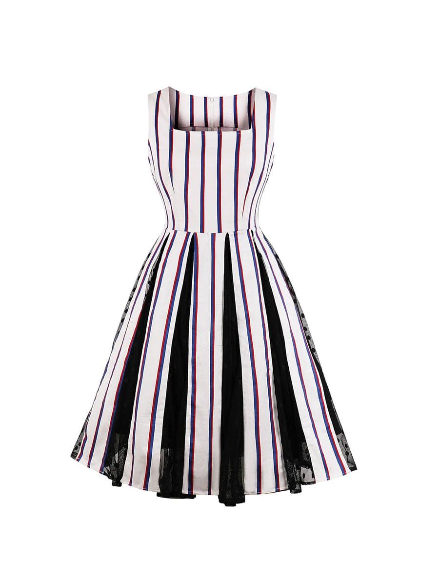 Сукня біла в смужку | 5154005