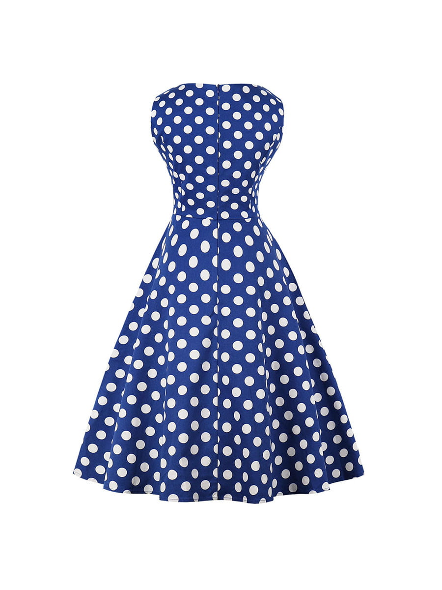 Сукня синя в горошок | 5154022