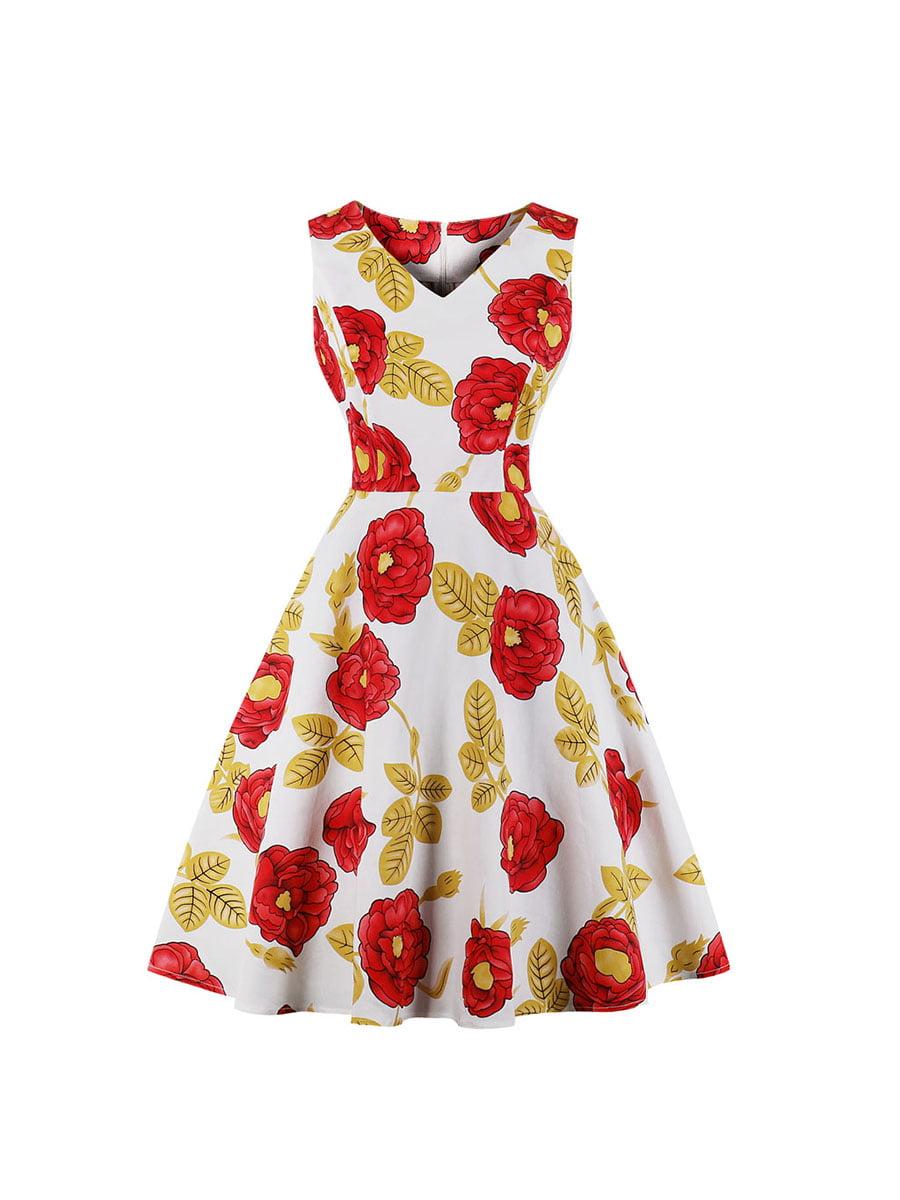 Сукня біла в квітковий принт | 5154026