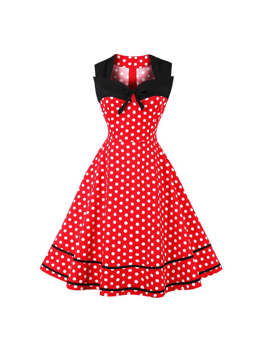Сукня червона в горошок | 5154036