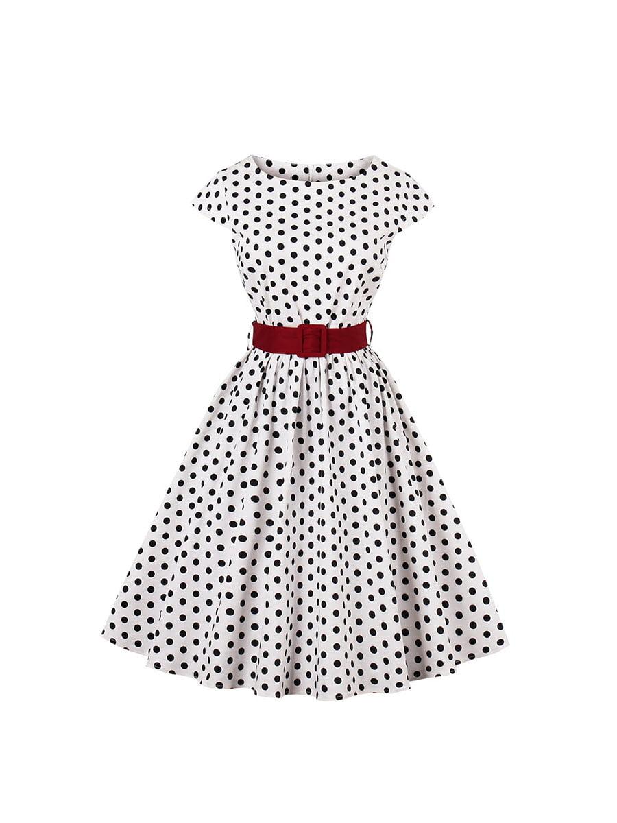 Сукня біла в горошок | 5154039