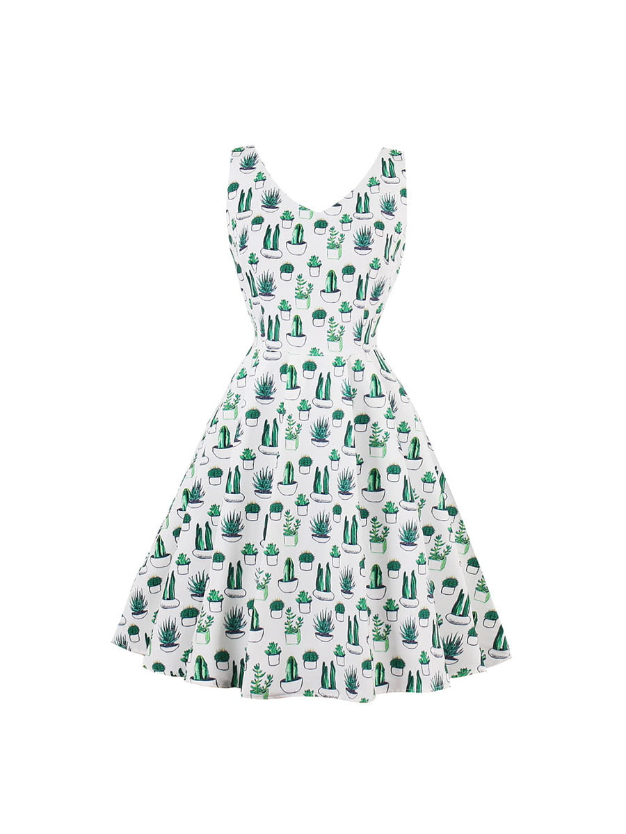Сукня біла в принт   5154041