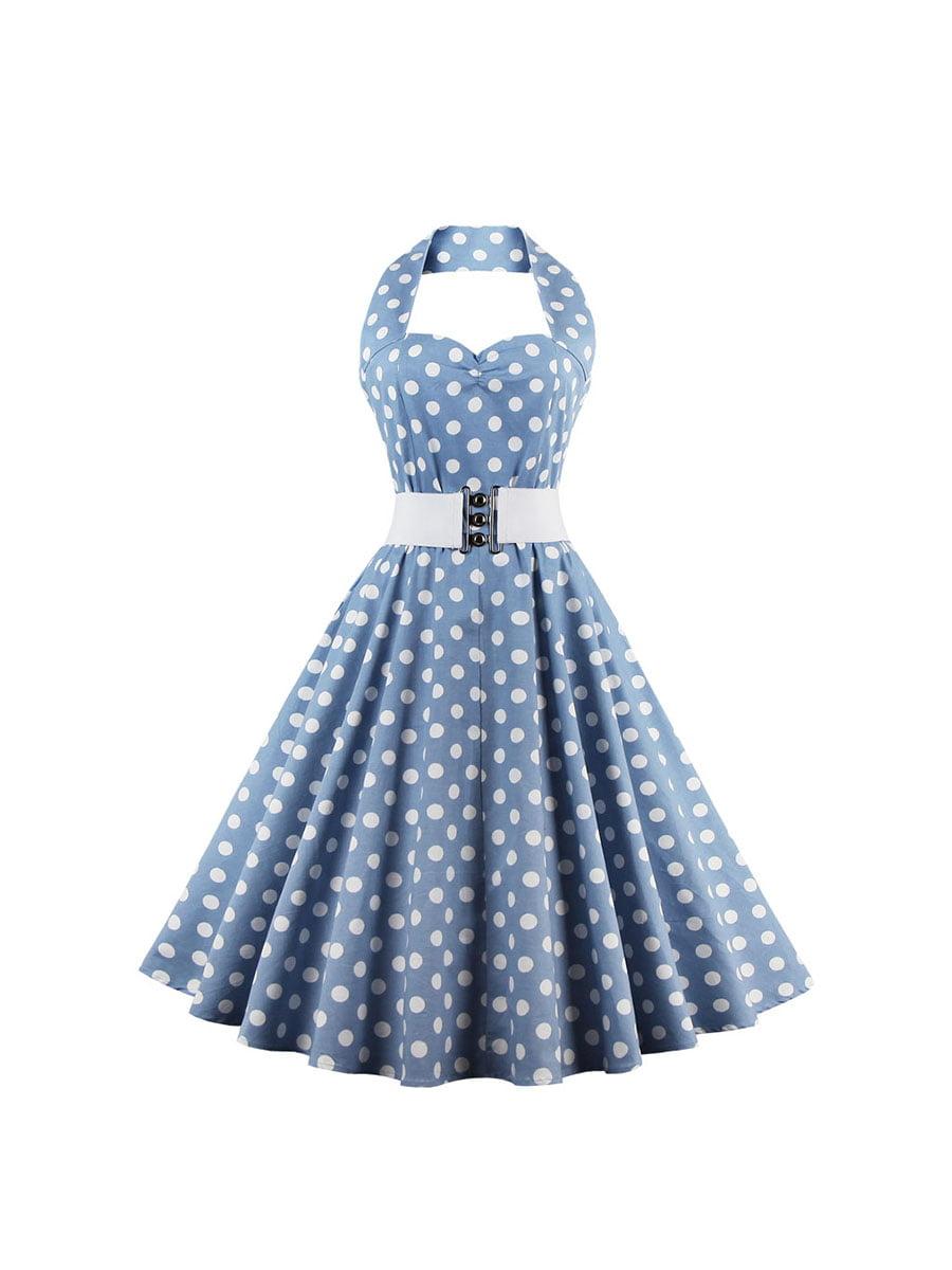 Сукня блакитна в горошок   5154088