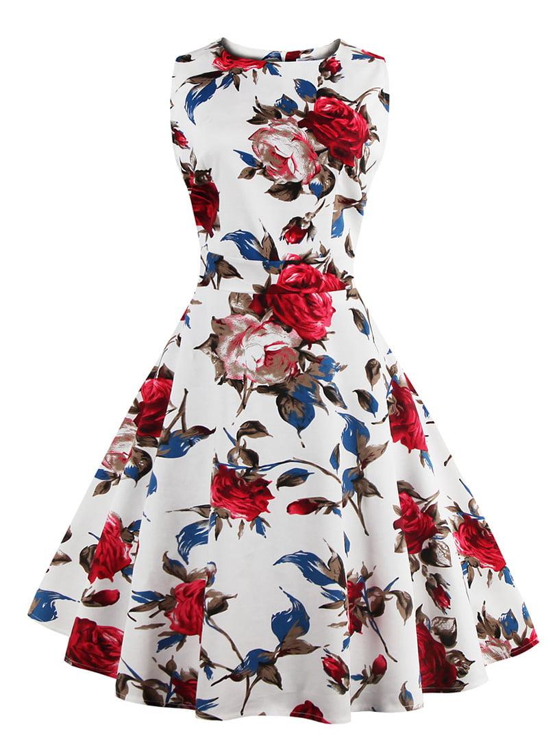 Сукня біла в квітковий принт   5154089