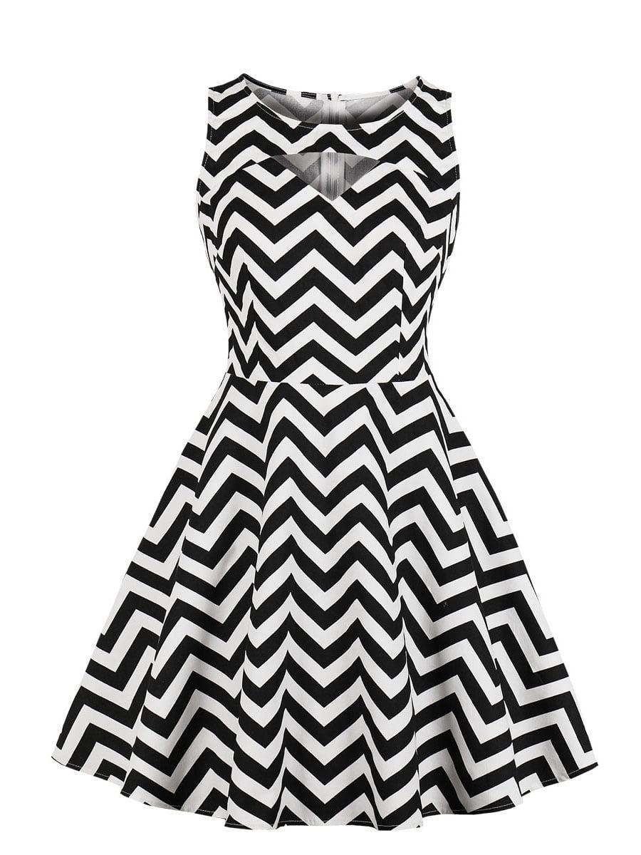 Сукня біла в зигзаг | 5154119