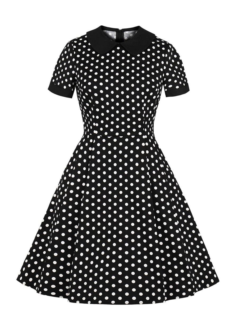 Сукня чорна в горошок | 5154137